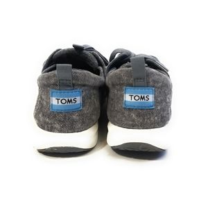 Toms Shoes - TOMS Del Ray Dark Gray Fabric Sneakers Size 6